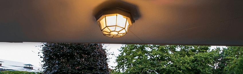 Външни лампи за таван