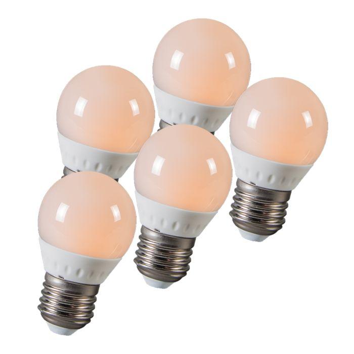 LED-топка-E27-3W-250-лумена-приблизително-25W-комплект-от-5