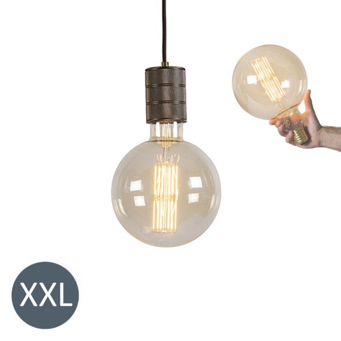 Висяща-лампа-бронз-Megaglobe-с-димируема-LED-лампа