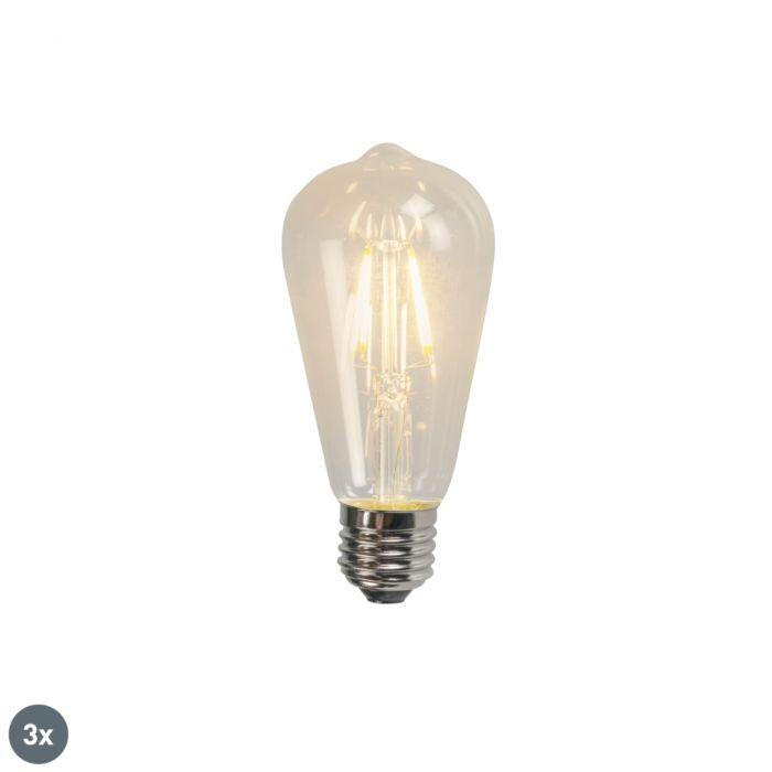 Комплект-от-3-E27-LED-крушка-с-нажежаема-жичка-ST64-4W-320lm-2700K