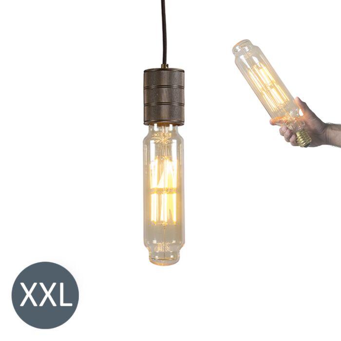 Висяща-лампа-Кула-бронз-с-димируема-LED-лампа