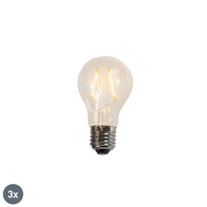 Комплект-от-3-нажежаеми-LED-лампи-A60-2W-2200K-прозрачни