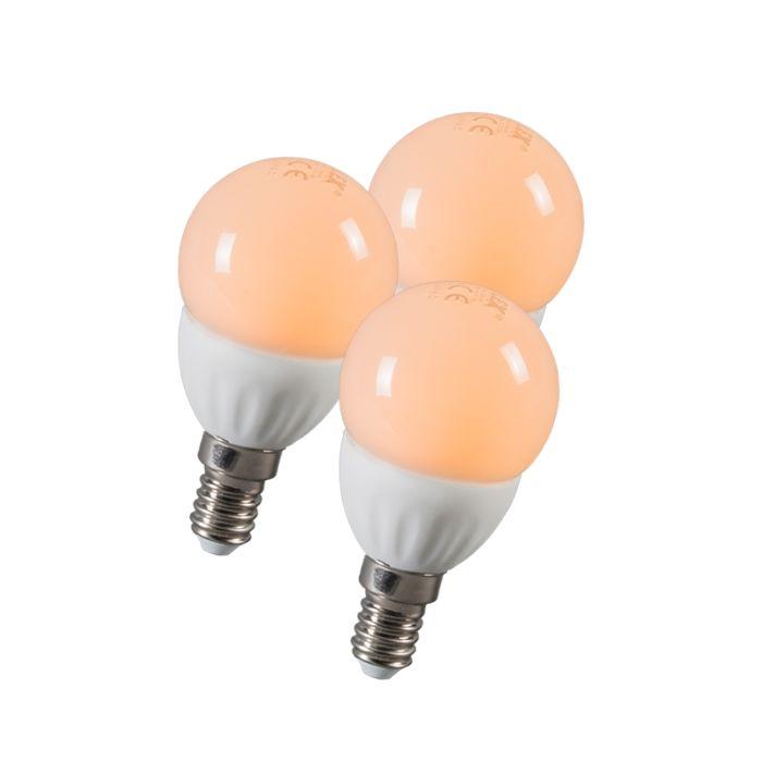 LED-топка-E14-3W-250-лумена-приблизително-25W-комплект-от-3