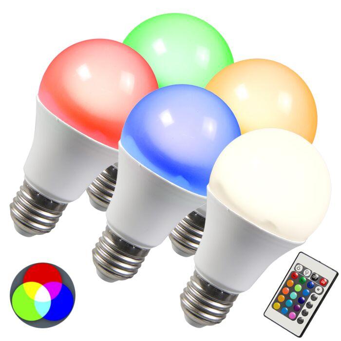 LED-крушка-RGB-E27-10W-изключително-топъл-бял-комплект-от-5-броя