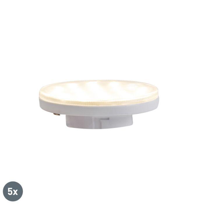 Комплект-от-5-GX53-3-степенни-димируеми-LED-лампи-3W-350-lm-3000K