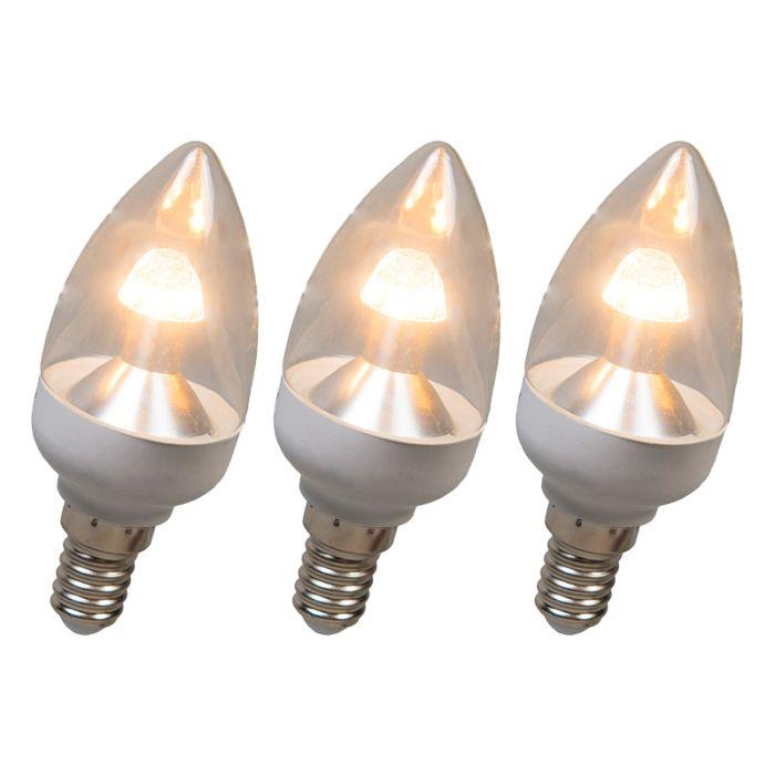 LED-лампа-за-свещи-E14-4W-250-лумена-топло-бяла-Комплект-от-3-димируеми