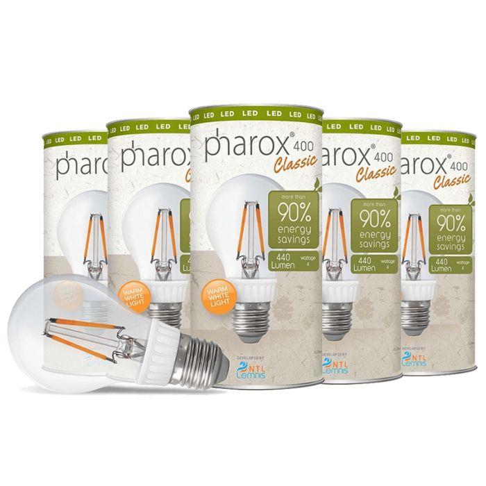 Pharox-LED-лампа-400-Classic-E27-4W-комплект-от-5-броя