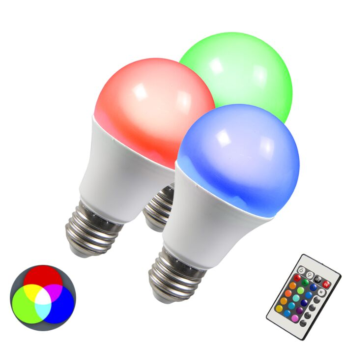 LED-крушка-RGB-E27-10W-изключително-топъл-бял-комплект-от-3-броя