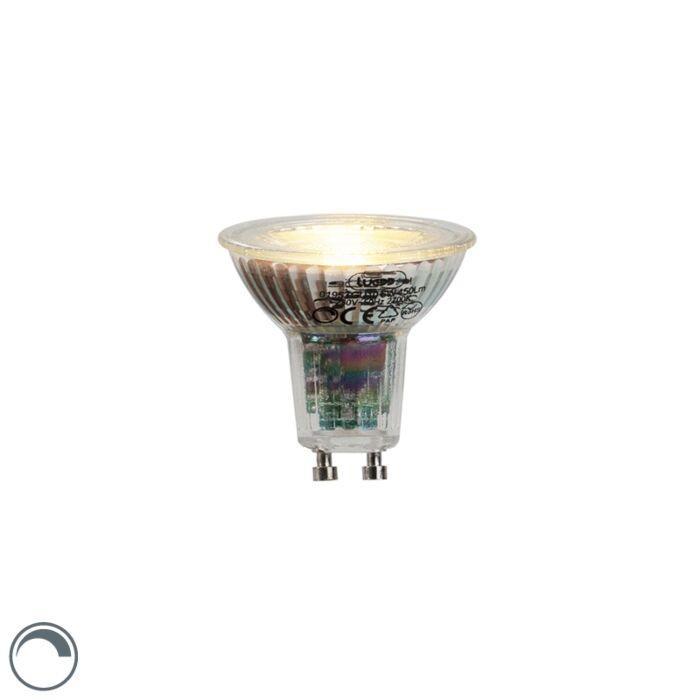 GU10-LED-лампа-6W-450-лумена-2700K-димируема