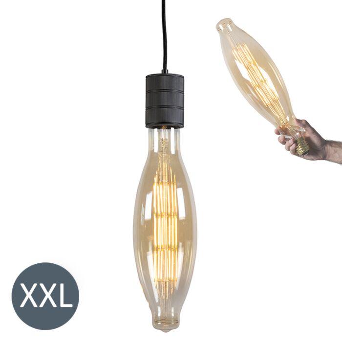 Висяща-лампа-Elips-черна-с-димируема-LED-лампа