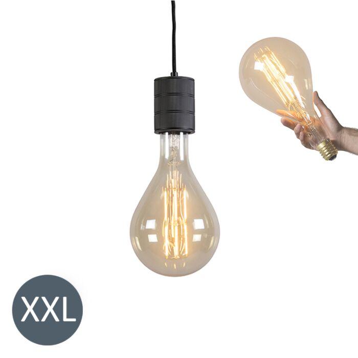 Висяща-лампа-Splash-черна-с-димируема-LED-лампа