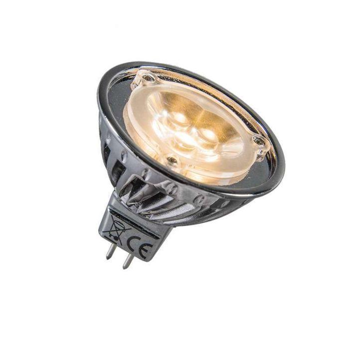 Мощност-LED-12V-MR16-3-x-1W-=-приблизително-30W-топло-бяло