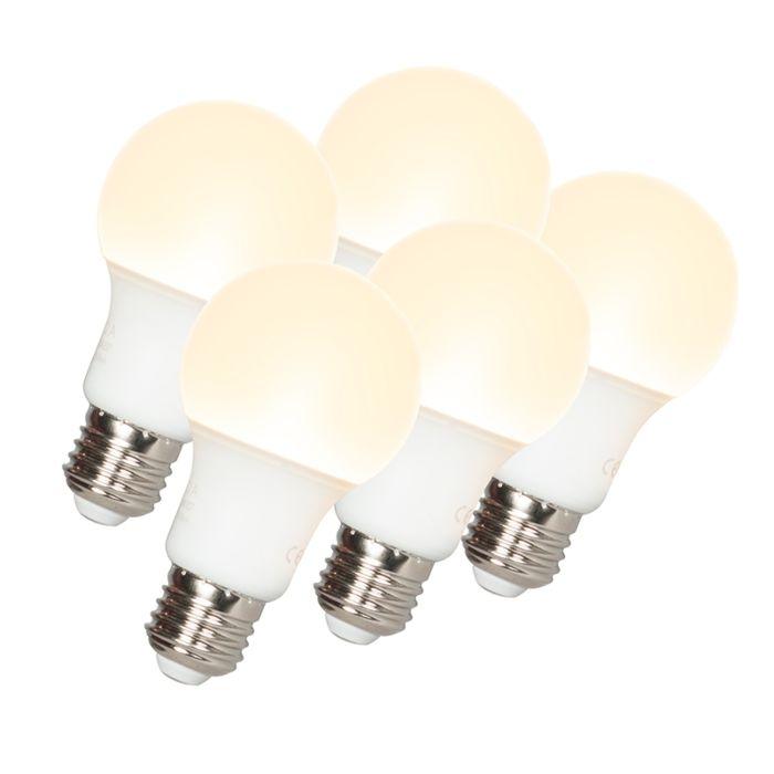 Комплект-от-5-LED-лампи-A60-E27-9W-3000K