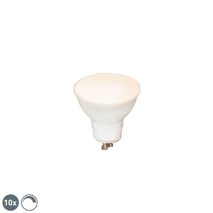 Комплект-от-10-GU10-димируеми-LED-лампи-6W-450-lm-2700K
