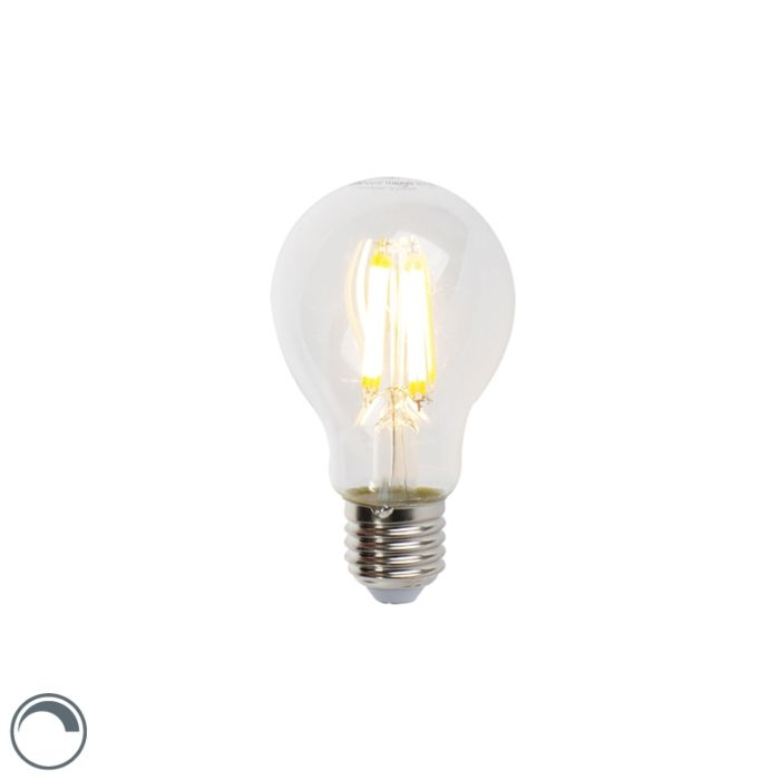 LED-лампа-с-нажежаема-жичка-E27-7W-806lm-A60-димируема-ясна