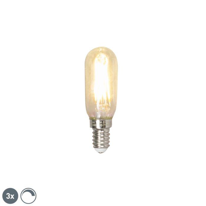 Комплект-от-3-E14-димируема-LED-T25L-лампа-с-нажежаема-жичка-3W-310-лумена-2700K