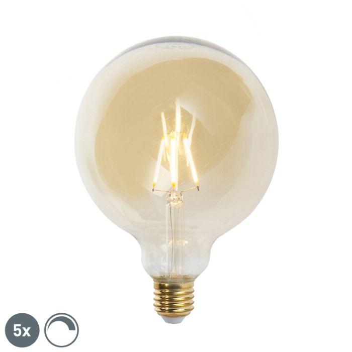 Комплект-от-5-E27-димируеми-LED-лампи-с-нажежаема-жичка-G125-goldline-2200K