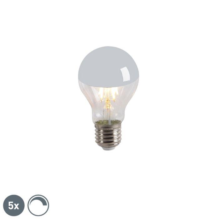 Комплект-от-5-LED-огледала-за-лампа-с-нажежаема-жичка-E27-240V-4W-300lm-A60-с-възможност-за-регулиране