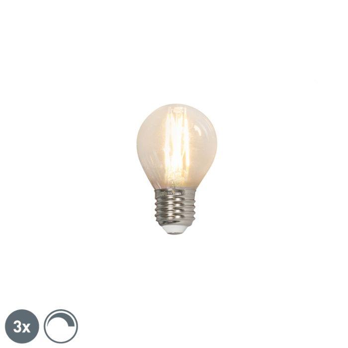 Комплект-от-3-LED-лампи-с-нажежаема-жичка-E27-240V-3,5W-350lm-P45-с-възможност-за-регулиране