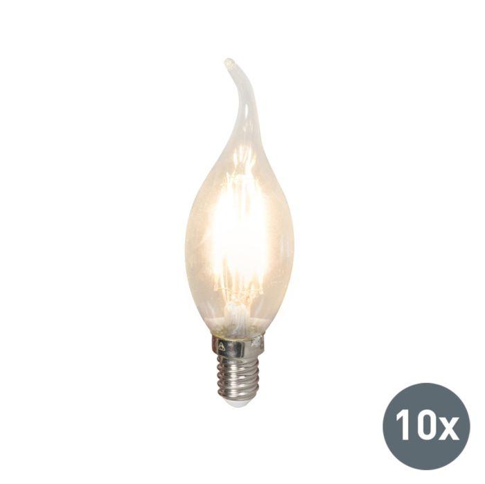Комплект-от-10-LED-лампи-с-нажежаема-жичка-E14-240V-3,5W-350lm-BXS35-с-възможност-за-регулиране