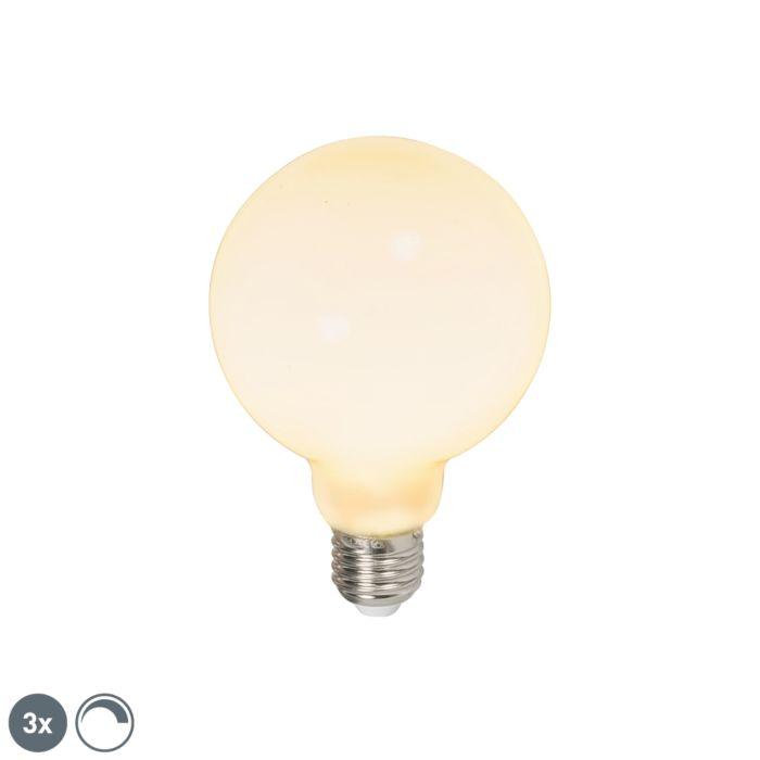 Комплект-от-3-LED-лампи-глобус-E27-240V-6W-650lm-димируема