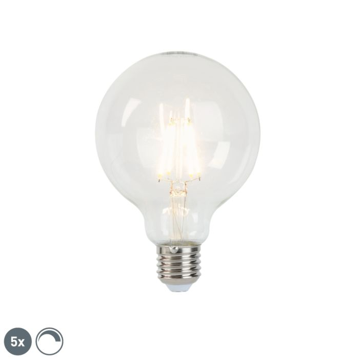 Комплект-от-5-E27-димируеми-LED-лампи-с-нажежаема-жичка-G95-5W-470-lm-2700K