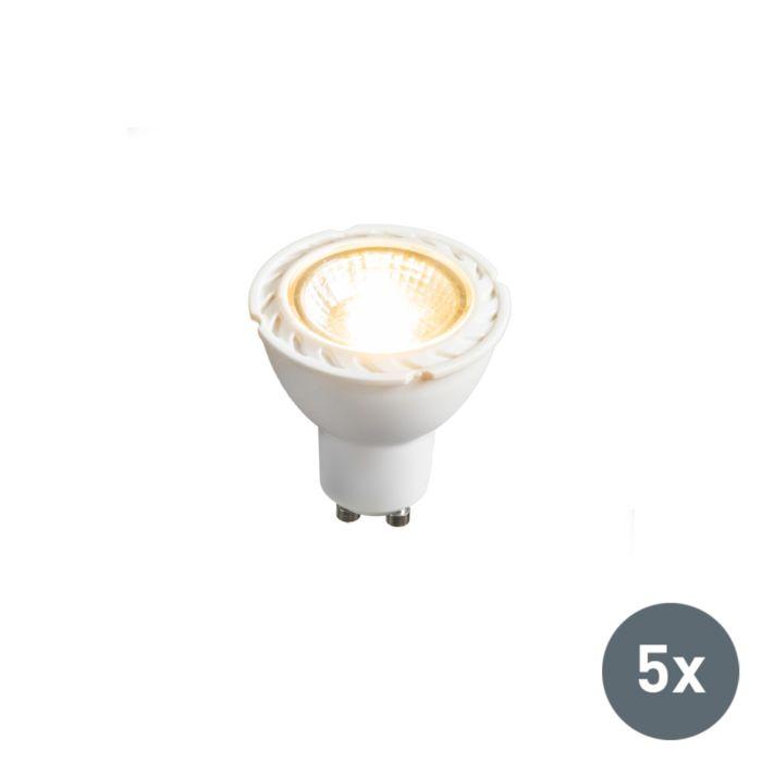 Комплект-от-5-LED-лампи-GU10-240V-7W-2700K-с-възможност-за-регулиране