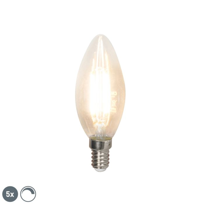 Комплект-от-5-E14-димируеми-LED-лампи-с-нажежаема-жичка-350-lm-2700K