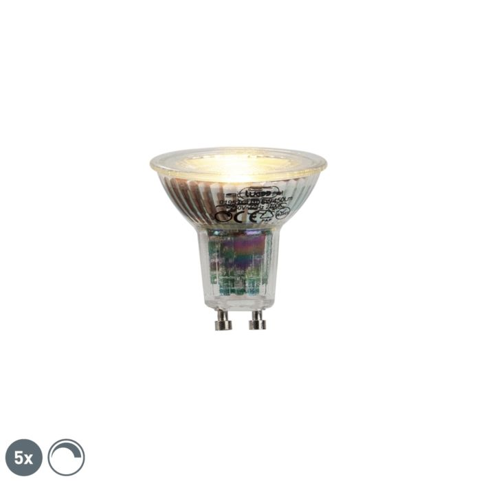 Комплект-от-5-GU10-LED-лампа-6W-450lumen-2700K-димируема