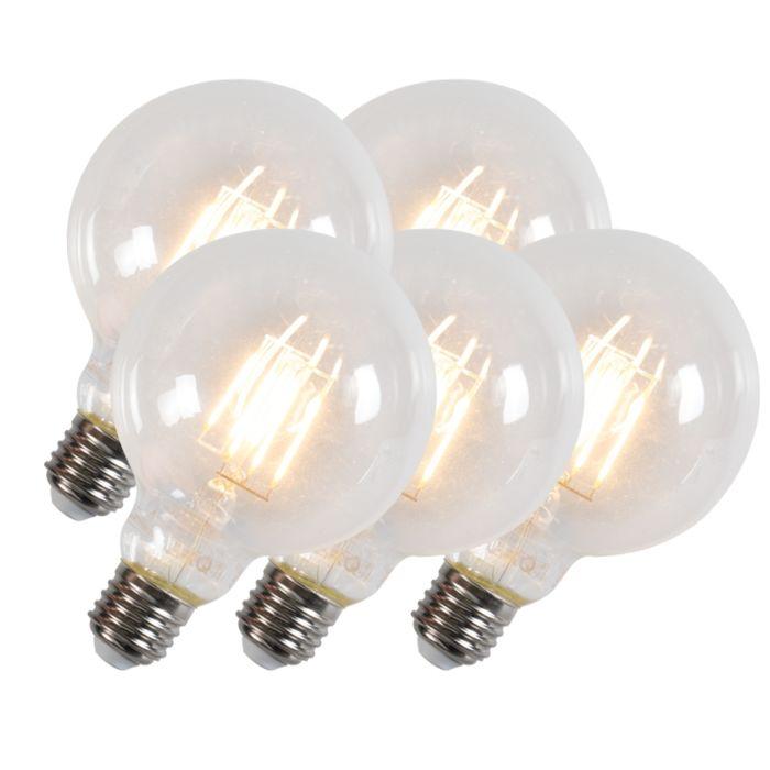 Комплект-от-5-Led-лампи-с-нажежаема-жичка-G95-E27-6W-600-лумена