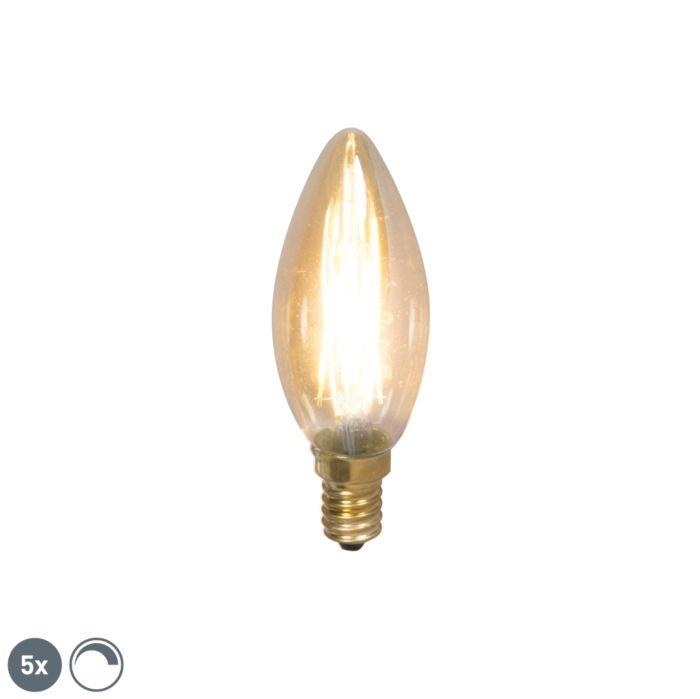 Комплект-от-5-E14-димируеми-LED-лампи-с-нажежаема-жичка-200lm-2100-K.