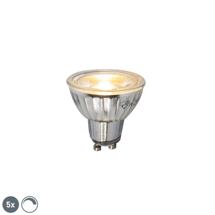 Комплект-от-5-GU10-димируема-LED-лампа-7W-500LM-2700K