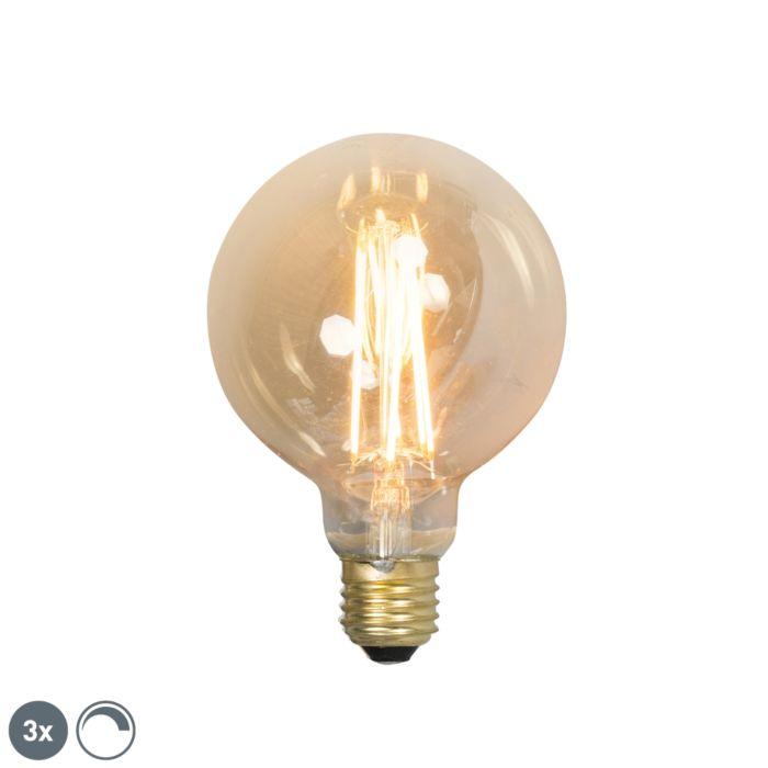 Комплект-от-3-E27-димируеми-LED-лампи-с-нажежаема-жичка-G95-goldline-2100K