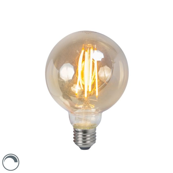 LED-лампа-с-нажежаема-жичка-E27-5W-2200K-G95-дим,-димируем