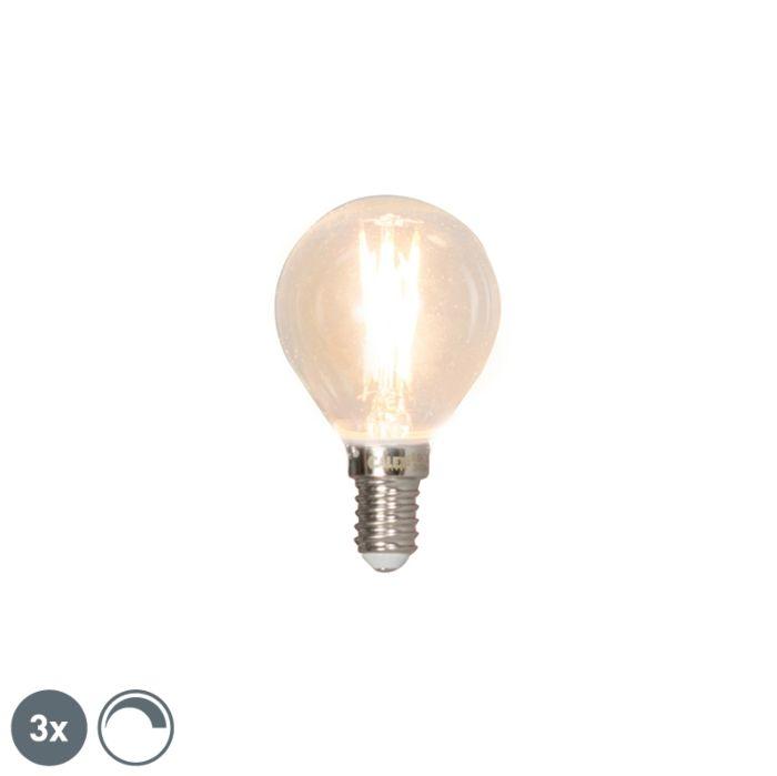 Комплект-от-3-E14-димируеми-LED-сферични-лампи-3W-350lm-2700K