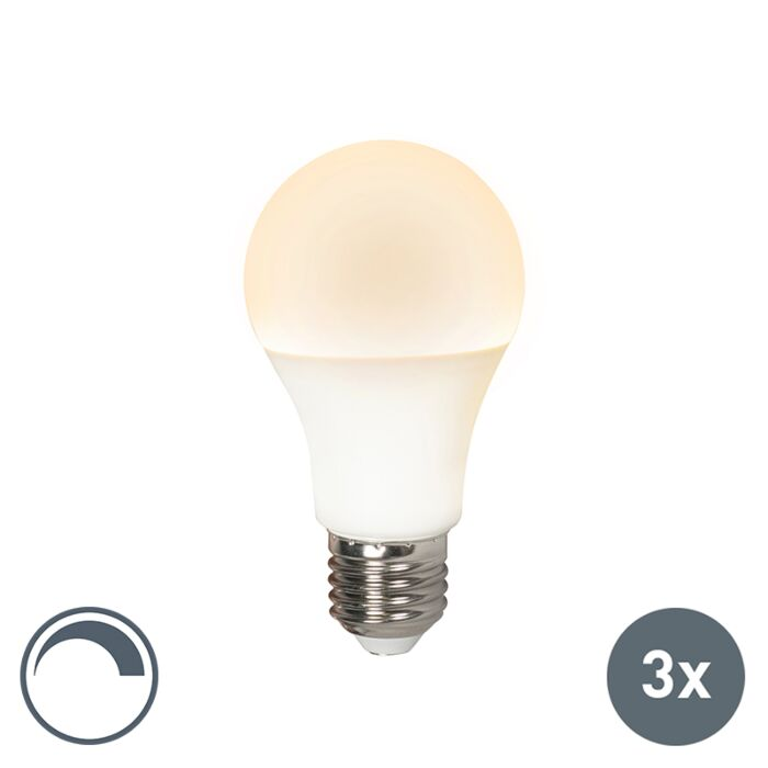Комплект-от-3-LED-лампи-E27-240V-10W-810lm-A60-за-димиране