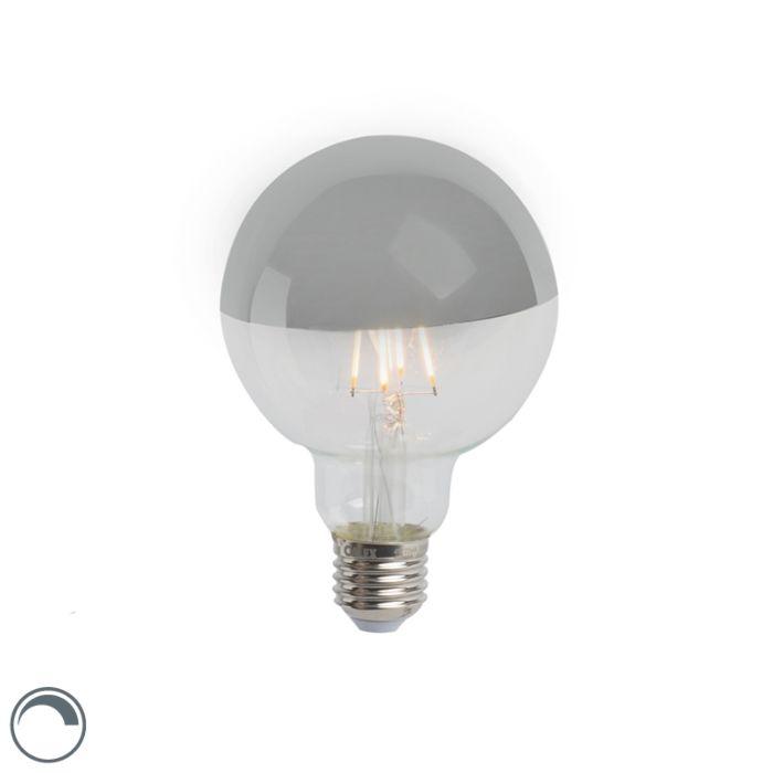 LED-огледало-за-лампа-с-нажежаема-жичка-сребро-E27-240V-4W-280lm-2300K-G95-димируемо