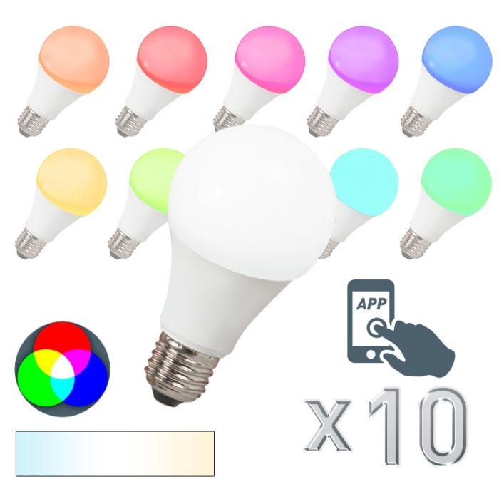 Комплект-от-10-LED-лампи-E27-240V-7W-500lm-A60-Smart-Light