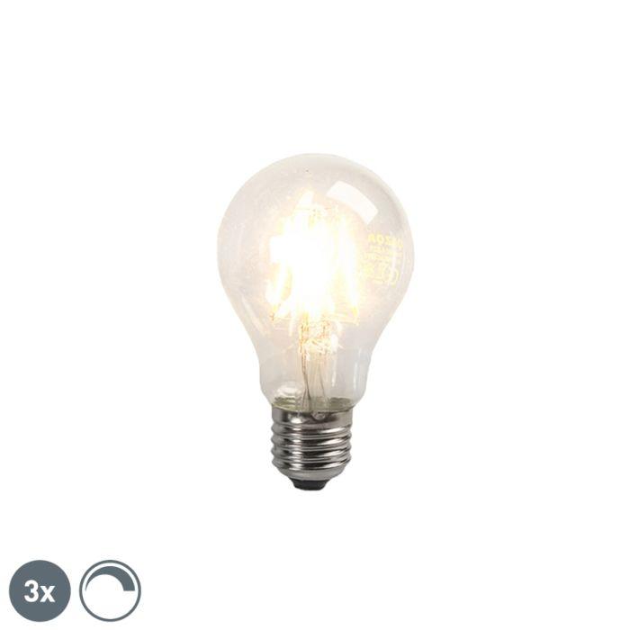 Комплект-от-3-LED-крушки-с-нажежаема-жичка-E27-4W-390lm-с-възможност-за-регулиране