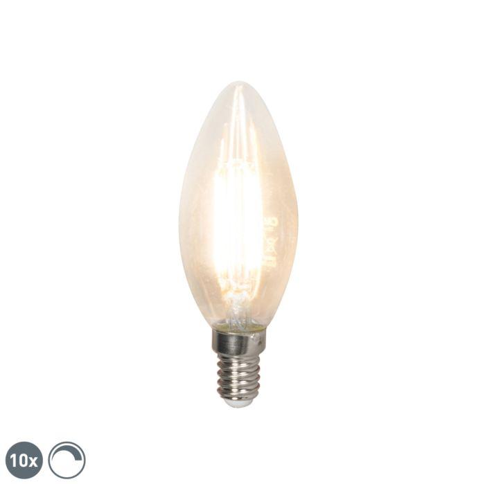 Комплект-от-10-LED-лампи-с-нажежаема-жичка-E14-240V-3,5W-350lm-B35-с-възможност-за-регулиране