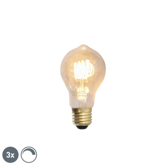 Комплект-от-3-E27-димируеми-LED-лампи-с-нажежаема-жичка-4W-200lm-2100-K.