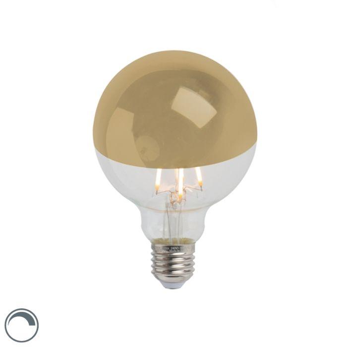 LED-огледало-за-лампа-с-нажежаема-жичка-злато-E27-240V-4W-280lm-2300K-G95-димируемо