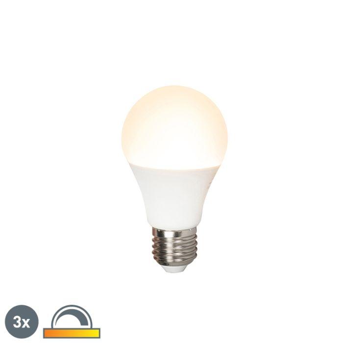 Комплект-от-3-LED-лампи-E27-240V-7W-510lm-A60-с-възможност-за-регулиране