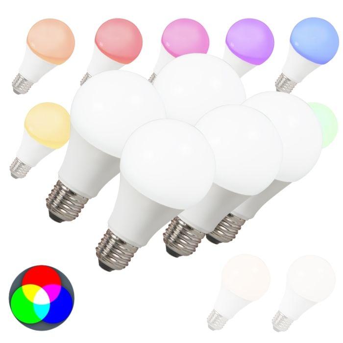 Комплект-от-5-LED-крушки-E27-240V-7W-500lm-A60-Smart-Light