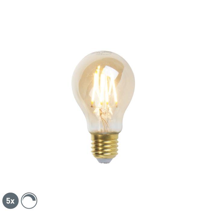 Комплект-от-5-E27-димируеми-LED-лампи-с-нажежаема-жичка-goldline-360lm-2200K