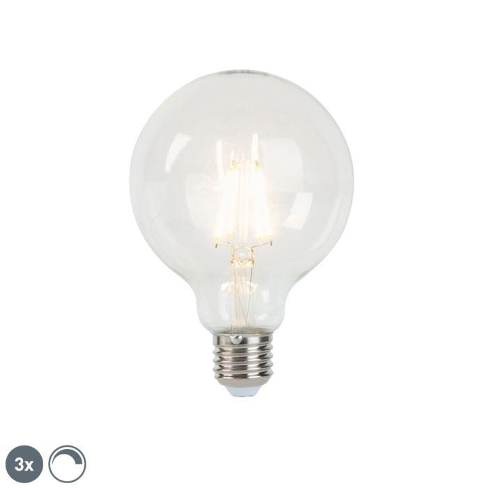 Комплект-от-3-E27-димируеми-LED-лампи-с-нажежаема-жичка-G95-5W-470-lm-2700K