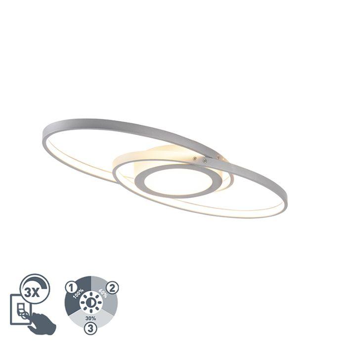 Дизайнерска-таванна-лампа-стомана-с-LED-3-степенна-димируема---Axy