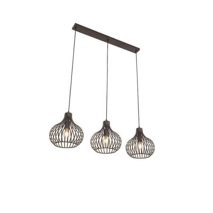 Moderne-hanglamp-bruin-3-lichts---Frances