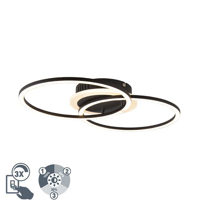 Дизайнерска-лампа-за-таван-черна,-включително-LED-3-степенна-димируема---Veni