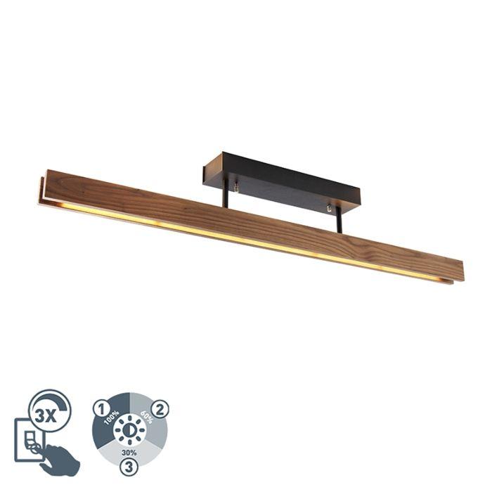 Лампа-за-таван-от-дърво,-вкл.-LED-3-степенна-димируема---Holz